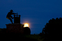 CA-Napa Wine Crusher Full Moon Rise