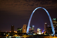 St. Louis, Gateway Arch at Night 1